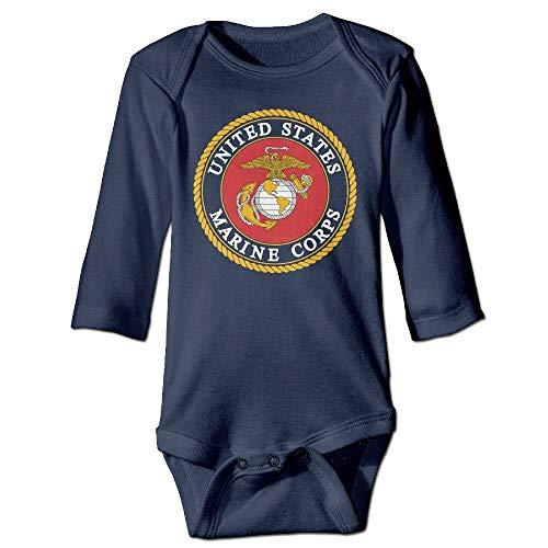 SDGSS Ropa para bebés Bodysuits US Marine Corps Long Sleeve Baby Bodysuits