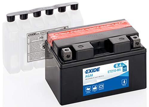 Batteria moto Exide YTZ10-BS YTZ10S ETZ10-BS 12V 8.6AH 190A dimensioni 150X87X93MM