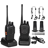 CACAGOO Walkie Talkie Recargable 16 Canales 1500mah CTCSS DCS 6KM, Talkie walkie...