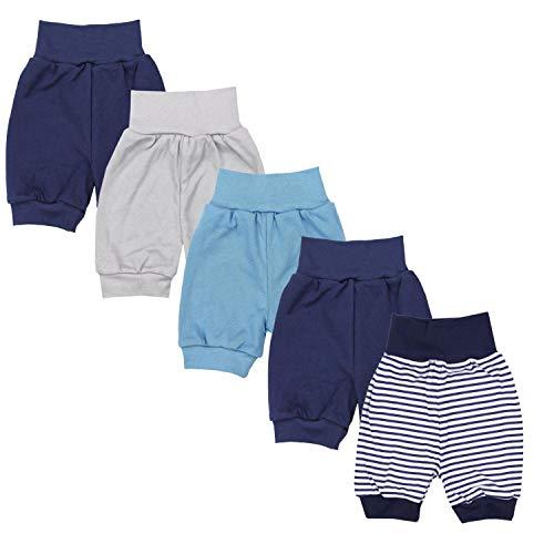 TupTam Unisex Baby Pumphose Sommershorts Baumwolle 5er Pack, Farbe: Junge 5, Größe: 86/92