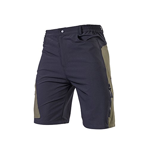 TOMSHOO Men's Baggy Cycling Shorts Breathable Loose-Fit Outdoor Sports MTB Cycling Running Shorts