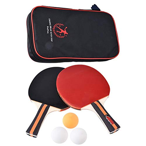 Read About 2Pcs Table Tennis Rackets, Professional Training Table Bat Tennis Portable Ping Pong Rack...