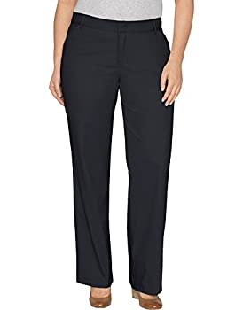 Dickies Women s Plus-Size Relaxed Straight Stretch Twill Pant Black 18W