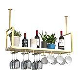 Botellero Sostenedor del Vidrio de Vino Estante para Copas de Vino montado en el Techo, Organizador de Cocina, Estante para Vino montado en la Pared