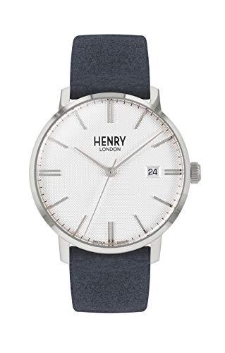 Henry London Orologio Analogico Quarzo Unisex Adulto con Cinturino in Pelle HL40-S-0351