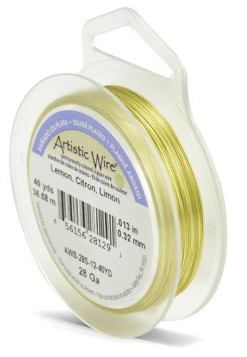 Artistic Wire Beadalon 40 914 28 g Câble plaqué argent/citron