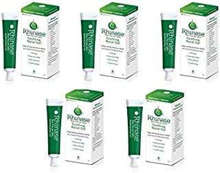 Rhinase Saline Nasal Gel (5 Pack) with 2 Wetting Agents and 2 Salts Allergy Relief Moisturizer - No Steroids no Aloe no Scent