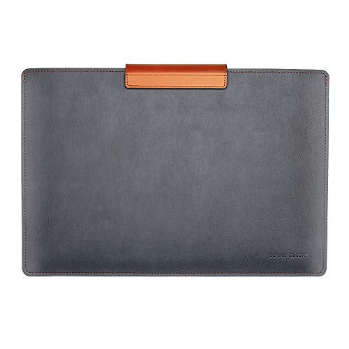 BEFINE 16 inch Premium Leather Tasca Sleeve Edition with Pu and Inner Suede with Slim Size Modern and Durable Case Designed by a Craftsmen Compatible for MacBook Pro, Apple Laptop (Navy)