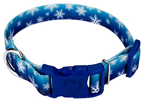 Country Brook Petz - Deluxe Winter Wonderland Dog Collar - Christmas Collection with 16 Festive Designs (3/4 Inch, Small) - Made in The U.S.A.