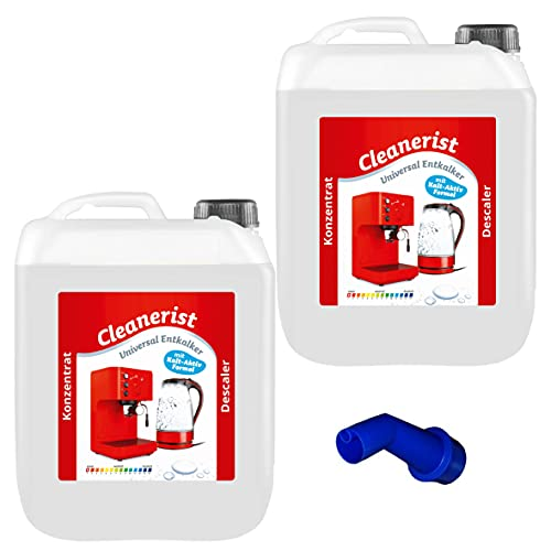 Cleanerist - Concentrado antical para cafeteras automáticas y máquinas de café | Adecuado para todas las marcas conocidas | Eliminador de cal extra profundo – 2 x 10 litros