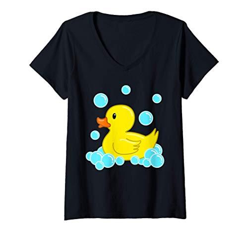 Mujer Lindo Pato Amarillo Duckie Juguetes De Baño De Goma Patito Camiseta...