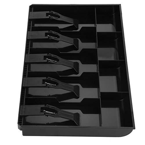 Caja Registradora de Cinco Rejillas Caja Registradora de Caja Registradora Inserte la Bandeja de Monedas Cajero Caja de Seguridad de Almacenamiento Ordenado(negro)