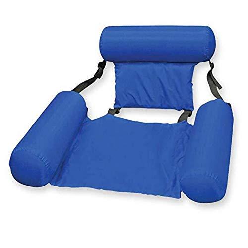 N\C PVC Sommer aufblasbare Hängematte Faltbare Wasser Freizeit Lounge Stuhl Schwimmbett Schwimmbett Strandkorb Schwimmbad schwimmende Lounge Stuhl