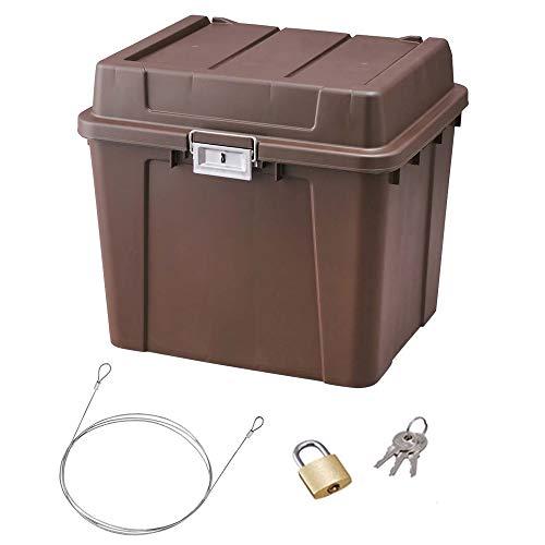アイリスオーヤマ 宅配ボックス 鍵付き 盗難防止 ワイヤー 密閉防水 案内ステッカー TBP-540 ブラウン