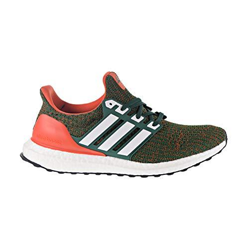adidas Ultraboost 4.0 Zapatilla para correr para hombre, Verde (Dark Green-white-orange), 40.5 EU