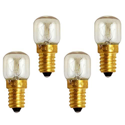 Mobestech Ersatz für Mikrowelle e14 25w Mikrowellen-Ersatzlampe für Mikrowelle 4 Stück Warmweiß 25W