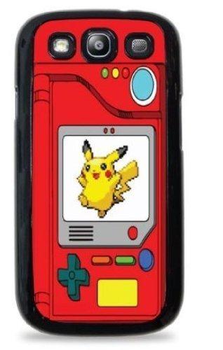 Pokedex with Pikachu Pokemon- Black Hardshell Case for Samsung Galaxy S3 -485