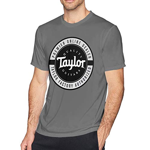 Ayobox Taylor Quality Guitars Shirt Men Casual Fashion Novelty Short Sleeve Crewneck Tee Tops Deep Heather Medium