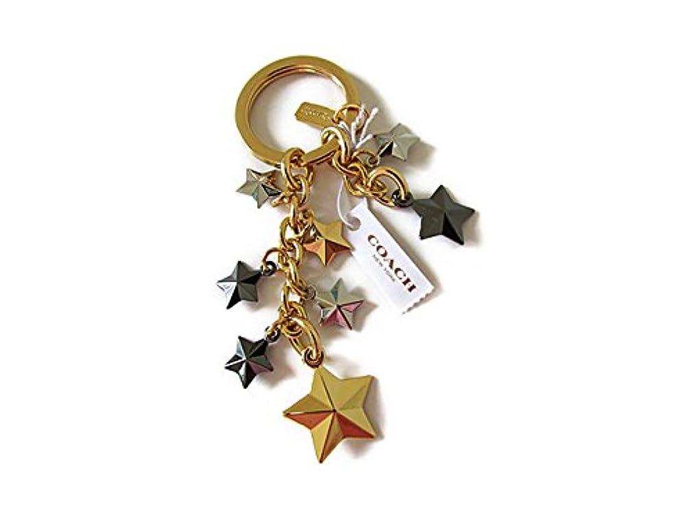 オーストラリア広告長椅子Coach コーチ キーホルダー キーチェーン チャーム スター キーホブ 63987 ゴールド マルチ【新品】COACH Stars Multi Mix KEYCHAIN FOB (Style F63987) IMMTI [並行輸入品]