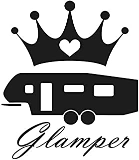 Glamper 5th wheel sticker - Decal [BLACK] 5
