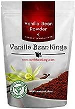 Vanilla Bean Powder - Naturral Raw Ground Vanilla Beans - Unsweetened, Non GMO, Gluten-Free, Freshly Ground Before Packaging for Keto Paleo - 8 oz