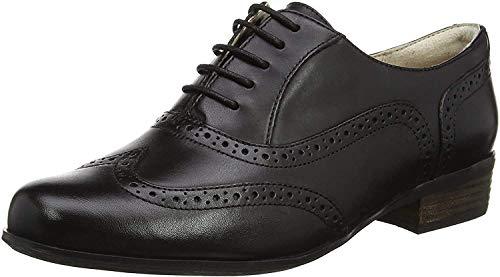 Clarks Damen Hamble Oak Schnürhalbschuhe, Schwarz (Black Leather), 41 EU