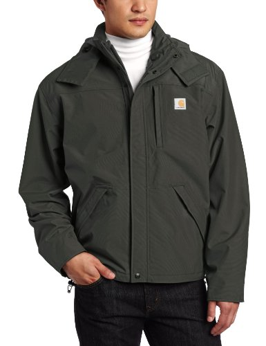 Carhartt Men's Shoreline Jacket Waterproof Breathable Nylon,Olive,Medium