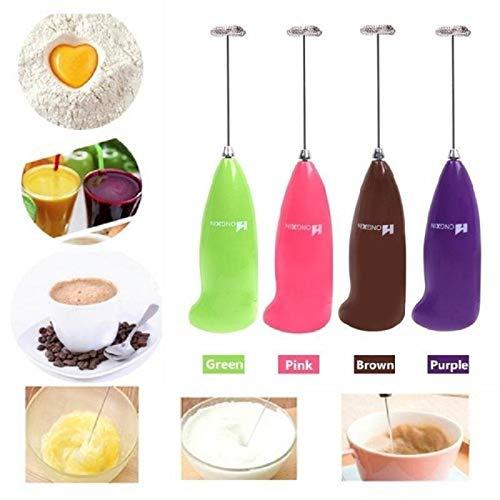 Whisk Mini espumador de leche eléctrico automático de mano para cafetera de espuma batidora de huevos, leche, capuchino, espumador portátil para cocina y café (color: al azar)