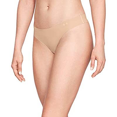 Under Armour Women's Pure Stretch Thong Multi-Pack, Nude (295)/Nude, Small