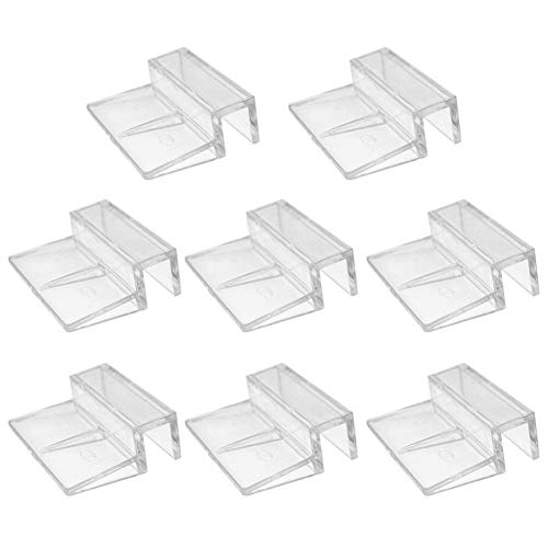 8 Stks Vis Tanks Glas Cover Clip,6mm/8mm/10mm/12mm Aquariums Vistank Acryl Clips Glas Cover Support Houders Universele Deksel Clips voor Rimless Aquariums, 10 mm