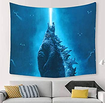Godzilla Tapestry Godzilla King of The Monsters Wall Hanging Decoration for Apartment Home Art Wall Tapestry for Bedroom Living Room Dorm 60 X 40 Inches