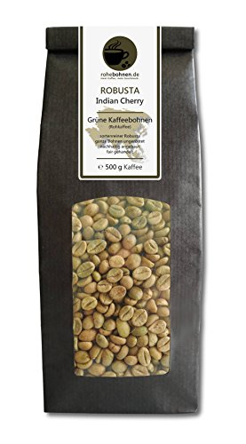 Rohkaffee - Grüner Kaffee Robusta Indian Cherry (grüne Kaffeebohnen 500g)