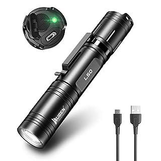 scheda wuben l50 torcia led 1200 lumen super luminosa torcia tattica ricaricabile professionale impermeabile torce 5 modalità tascabili portatili torch per il campeggio