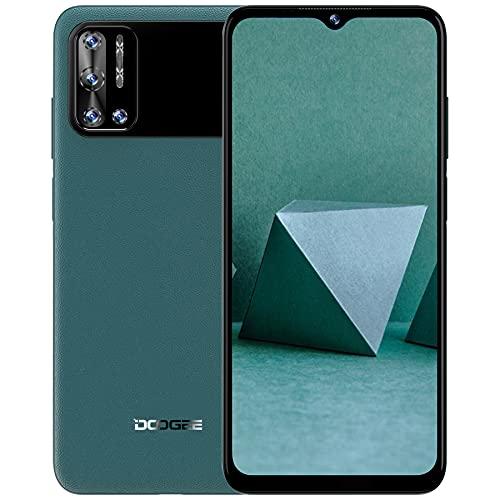 Smartphone Ohne Vertrag, DOOGEE N40 Pro Handy Ohne Vertrag Android 11, 6GB+128GB, Octa Core Smartphone, 6380 mAh Akuu Android Handy, 6.52 Zoll, 20MP Quad Kamera, Face/Fingerprint ID, OTG - Grün
