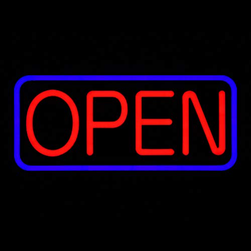 LED Business Advertisement Open Sign - Electric Display Store Sign,24 x 12 inch (Larger Size) Steady Light for Business Storefront, Walls,Shop Window,Bar Inksilvereye