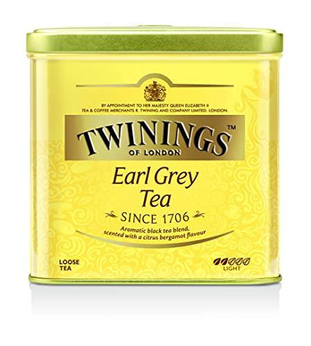 Twinings Earl Grey Tee lose in der Tee-Dose - Schwarzer Tee mit feinstem Bergamotte Aroma - erfrischender Schwarztee aus China, 500 g