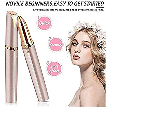 Flawless Electric Painless Facial Hair Remover Trimmers With Led Light(Rose Gold)