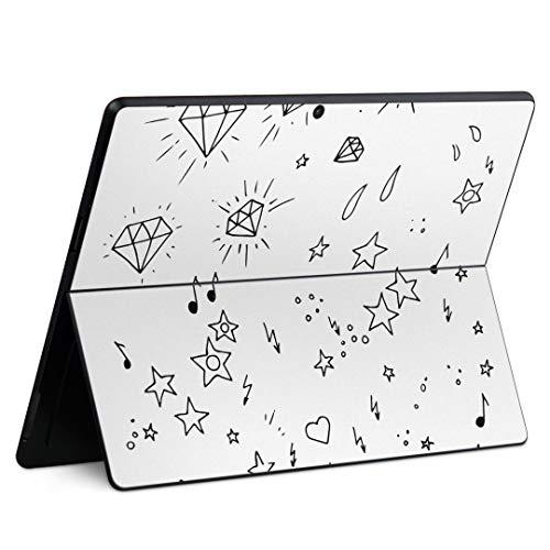 igsticker Surface Pro X 専用スキンシール サーフェス プロ エックス ノートブック ノートパソコン カバー ケース フィルム ステッカー アクセサリー 保護 012023 イラスト かわいい 星