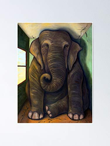 """Tolbert Elephant in The Room Poster 12.75"""" X 17"""" Inch No Frame Board for Office Decor, Best Gift Dad Mom Grandmother and Your Friends 08:29 1gb"""