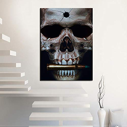 HGlSG Canvas Schilderij Wall Art Day Of The Dead Face Pictures HD Print Piano skelet poster Woonkamer Foto Wall Art A2 60x80cm