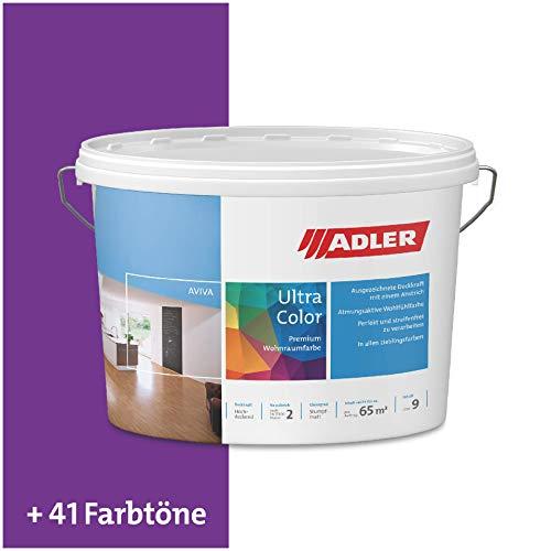 ADLER Ultra-Color Wandfarbe - Volltonfarbe und Abtönfarbe in 100+ Farbtönen - Atmungsaktiv, Hochdeckend, Lösungsmittelfrei - Lila/Violett - 3L