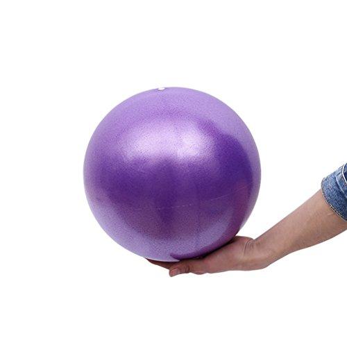 VORCOOL Pelota de Ejercicios de Pelota de Mini Pilates de Yoga para Ejercicios Abdominales y Ejercicios básicos de rehabilitación de Hombros (25 cm de Color púrpura)