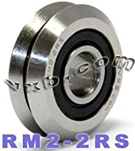 Quality VXB Set of 8 RM2-2RS 3/8 V-Groove Guide Bearing Sealed Ball Bearings Vgroove W2X