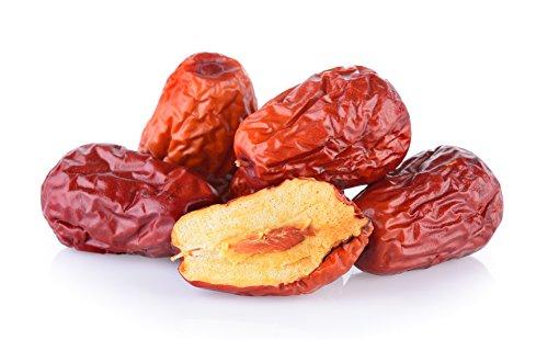 Passion4Fruit - Bio-Jujube | Chinesische Datteln - Hongzao - Rote Dattel | Rohkost Trockefrüchte in Bio-Qualität | Superfood-Snack aus China | 1000 g
