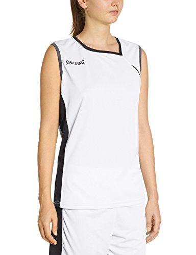 Spalding 4her Ii Tank Top, Camiseta Mujer, Multicolor (Weiß/Schwarz/Silbergrau), 3XL