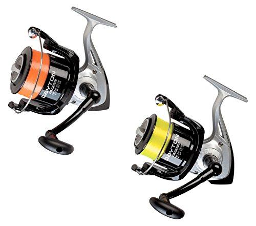 Evo Fishing KP2310 Trabucco Kit 2 Mulinelli Dayton 8000 + Dayton 6500 Surf,Imbobinati con Monofilo Max Plus