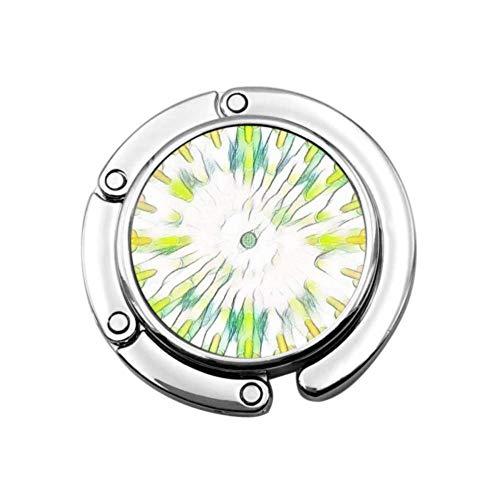 Colores Mosaico Abstracto Multicolor fcddfc Colgador de Bolso Plegable para Mesa Colgador...