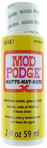 Mod Podge Matt 2 Oz, Synthetisches Material, Weiss, 3.4 x 3.4 x 10 cm