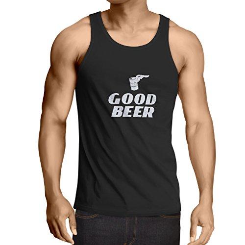 lepni.me Weste Ich Brauche EIN gutes Bier, Geschenk für Bierliebhaber Partykleidung (Large Schwarz Weiß)
