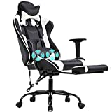 PC Gaming Chair Racing Office Chair Ergonomic Desk Chair Massage PU...